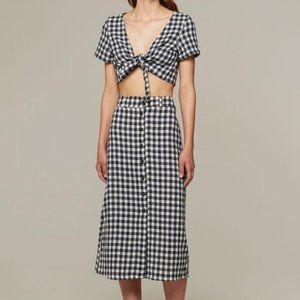 Rita Row Gingham Check Skirt Set Sz Large